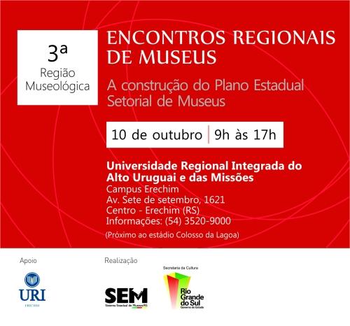 Convite_Encontros Regionais de Museus _ 3REGIAO